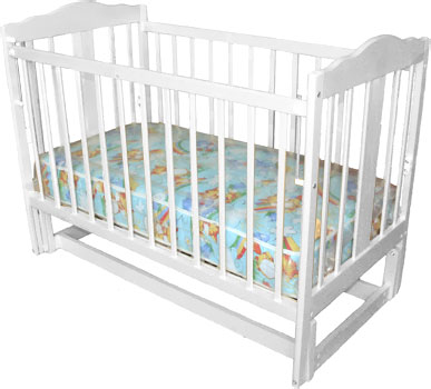 Детская кроватка Лескоммебель Лиза H8-6/4смя (Белая) - общий вид
