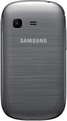 Мобильный телефон Samsung S3802 Rex 70 Duos Silver (GT-S3802 MSWSER) - задняя крышка