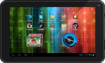 Планшет Prestigio MultiPad 7.0 Ultra + (PMP3670B_BK) - фронтальный вид