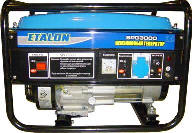 Бензиновый генератор Etalon SPG 3000 - общий вид