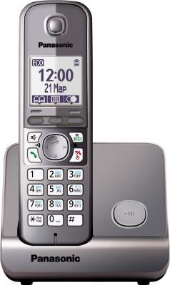 Беспроводной телефон Panasonic KX-TG6711 (серый металлик) - общий вид