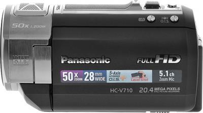 Видеокамера Panasonic HC-V710EE-K - вид сбоку