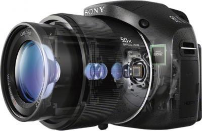Компактный фотоаппарат Sony Cyber-shot DSC-HX300 (черный) - общий вид