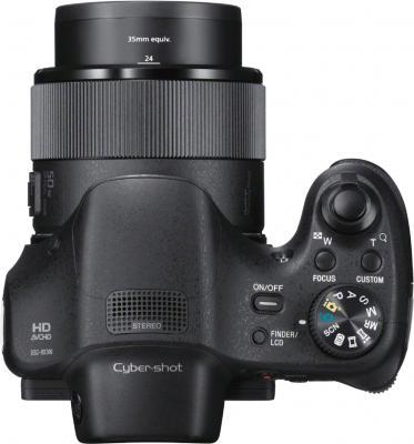 Компактный фотоаппарат Sony Cyber-shot DSC-HX300 (черный) - вид сверху