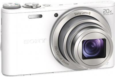 Компактный фотоаппарат Sony Cyber-shot DSC-WX300 White - общий вид