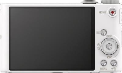 Компактный фотоаппарат Sony Cyber-shot DSC-WX300 White - вид сзади