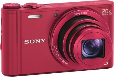 Компактный фотоаппарат Sony Cyber-shot DSC-WX300 (красный) - общий вид