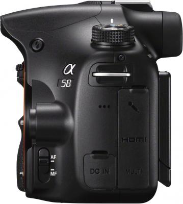 Зеркальный фотоаппарат Sony SLT-A58M Kit 18-135mm - вид сбоку
