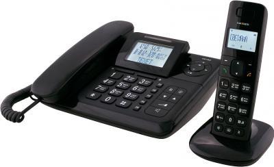 Беспроводной телефон TeXet TX-D7055A Combo Black - вид сбоку