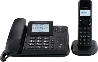 Беспроводной телефон TeXet TX-D7055A Combo Black - вид спереди