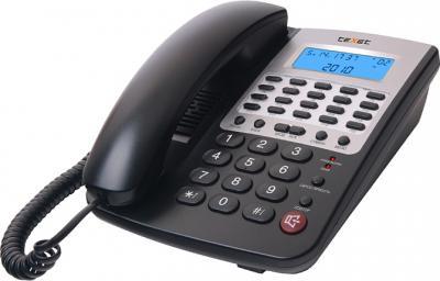 Проводной телефон TeXet TX-249 АОН Black - общий вид