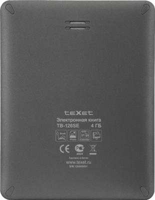 Электронная книга TeXet TB-126SE (Gray) - вид сзади