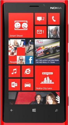 Смартфон Nokia Lumia 920 (Red) - вид спереди