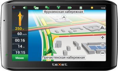 GPS навигатор TeXet TN-610 Voice HD (Black) - вид спереди