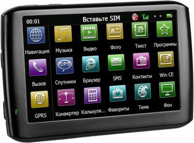 GPS навигатор TeXet TN-610 Voice HD (Black) - вид сбоку