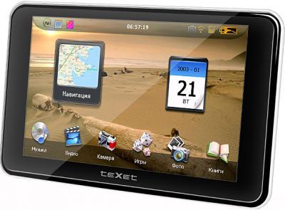 GPS навигатор TeXet TN-511HD DVR - вид сбоку