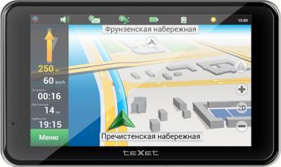 GPS навигатор TeXet TN-511HD DVR - вид спереди
