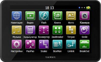 GPS навигатор TeXet TN-522HD DVR - вид спереди