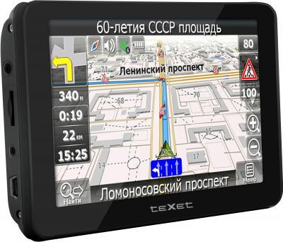 GPS навигатор TeXet TN-522HD DVR - вид сбоку