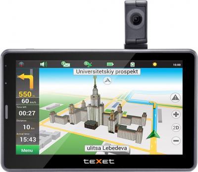 GPS навигатор TeXet TN-525HD DVR - вид спереди