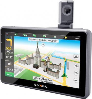 GPS навигатор TeXet TN-525HD DVR - вид сбоку