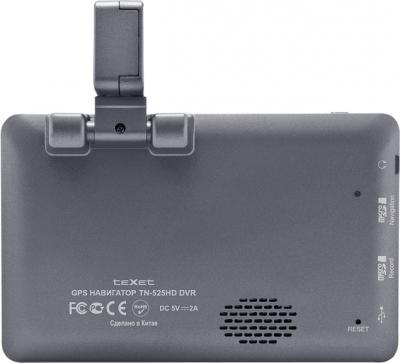 GPS навигатор TeXet TN-525HD DVR - вид сзади