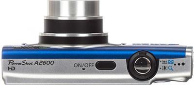 Компактный фотоаппарат Canon PowerShot A2600 (синий) - вид сверху