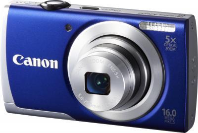 Компактный фотоаппарат Canon PowerShot A2600 (синий) - общий вид
