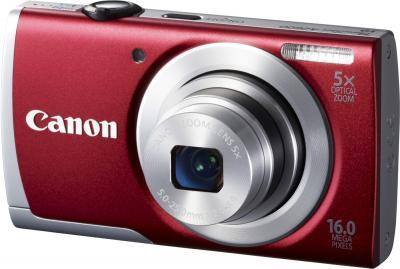 Компактный фотоаппарат Canon PowerShot A2600 Red - общий вид