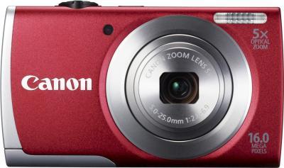 Компактный фотоаппарат Canon PowerShot A2600 Red - вид спереди