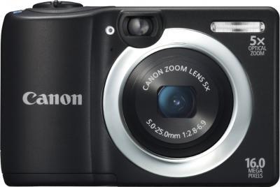 Компактный фотоаппарат Canon PowerShot A1400 Black - вид спереди