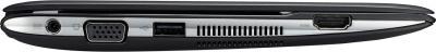 Ноутбук Asus Eee PC 1025C-GRY001B - вид сбоку