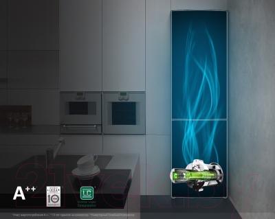 Холодильник с морозильником LG GA-B489ZVSP