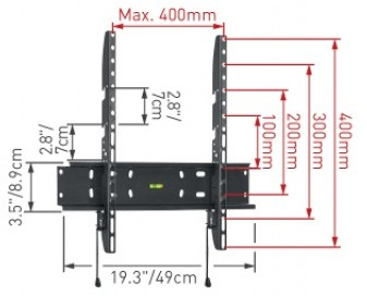 Кронштейн для телевизора Barkan Everest E30-EV.B - габаритные размеры