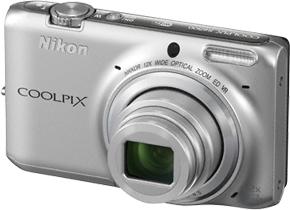 Компактный фотоаппарат Nikon Coolpix S6500 Silver - общий вид