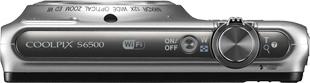 Компактный фотоаппарат Nikon Coolpix S6500 Silver - вид сверху