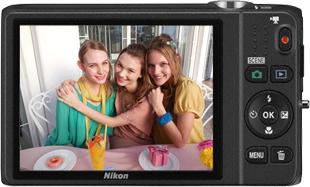 Компактный фотоаппарат Nikon Coolpix S6500 Black - вид сзади