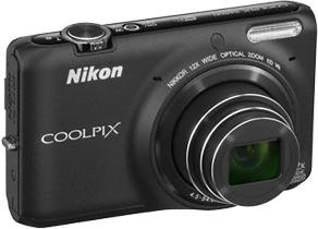 Компактный фотоаппарат Nikon Coolpix S6500 Black - общий вид