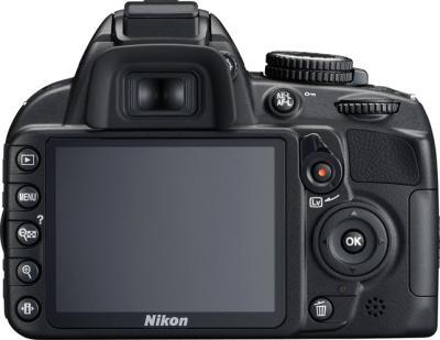 Зеркальный фотоаппарат Nikon D3100 Kit 18-55mm II - вид сзади