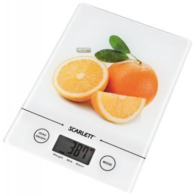 Кухонные весы Scarlett SC-1213 (White with Orange) - общий вид