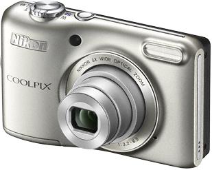 Компактный фотоаппарат Nikon Coolpix L28 Silver - общий вид