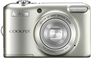 Компактный фотоаппарат Nikon Coolpix L28 Silver - вид спереди