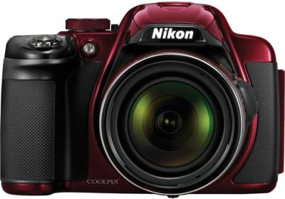 Компактный фотоаппарат Nikon Coolpix P520 Red - вид спереди