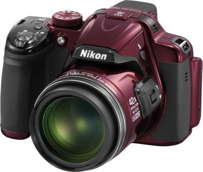 Компактный фотоаппарат Nikon Coolpix P520 Red - общий вид