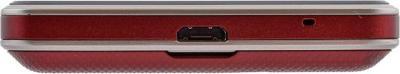 Мобильный телефон LG T375 Cookie Smart Red (Wine Red) - вид снизу