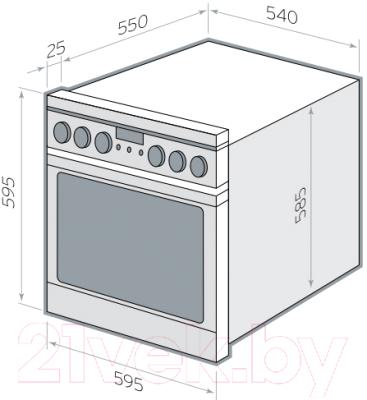 Электрический духовой шкаф Hansa BOEI68450014
