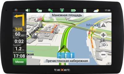 GPS навигатор TeXet TN-833 RDVR HD - вид спереди