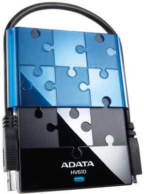 Внешний жесткий диск A-data DashDrive HV610 500GB Black (AHV610-500GU3-CBKBL) - общий вид