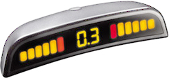 Парковочный радар ParkMaster 4DJ45 (Silver) - общий вид