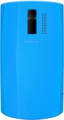 Мобильный телефон Nokia Asha 205 Cyan Dark Rose - вид сзади